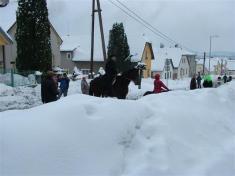 Sněhu bylo nevídáno.